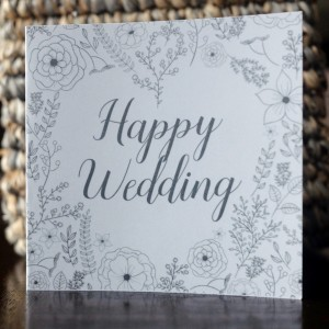 Happy Wedding Mini Greeting Card