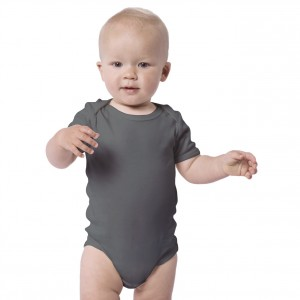 Charcoal Baby Bodysuit Short Sleeve (Jumper)