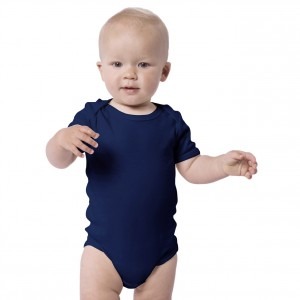 NAVY BLUE Baby Bodysuit Short Sleeve (Jumper)