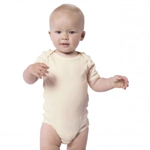 BEIGE Baby Bodysuit Short Sleeve (Jumper)