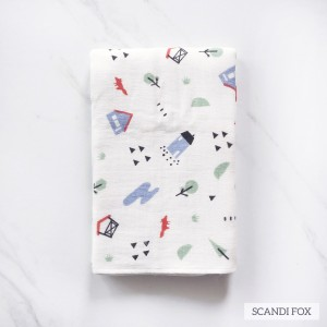 Scandi Fox Tottori Baby Towel