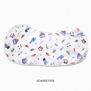 Scandi Fox Burp & Bib