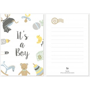 It's a Boy Greeting Post Card