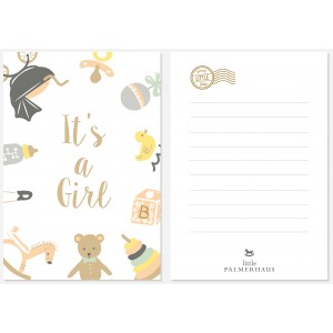 It's a Girl Greeting Post Card