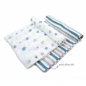Blue Midnight Swaddle Set of 2