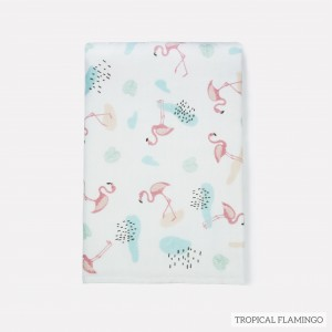 Tropical Flamingo Tottori Baby Towel