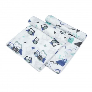 Owl Swaddle Set of 2 (Grey)