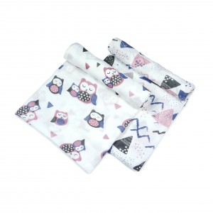 Owl Swaddle Set of 2 (Pink)