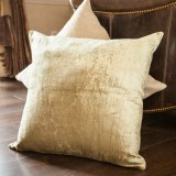 Vintage Khaki Linen Pillow Cover