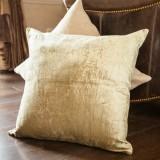 Vintage Khaki Linen Pillow Cover