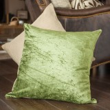 Vintage Green Linen Pillow Cover