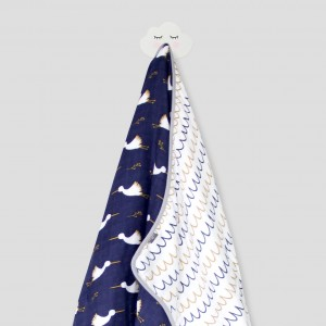 DREAMY STORK SNUGGLY BLANKET (NAVY)