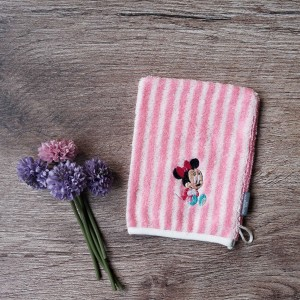 Disney Washmitt Stripe Pink