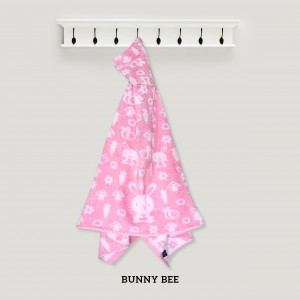 Bunny Bee PINK Baby Hooded Towel