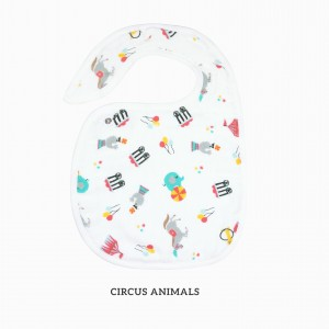 CIRCUS ANIMAL SNAPPY BIB