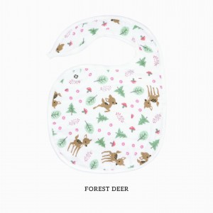 FOREST DEER SNAPPY BIB