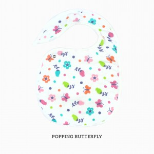 Popping Butterfly Snappy Bib