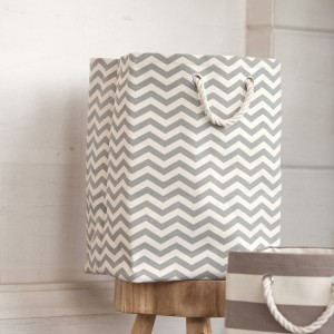 Chevron Canvas Hamper