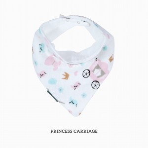 PRINCESS CARRIAGE BANDANA BIB