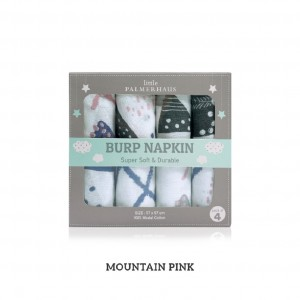 Mountain Pink Burp Napkin Set Of 4