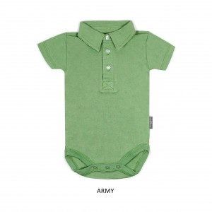 ARMY Boy Collar Bodysuit Short Sleeve (Jumper)