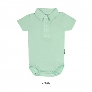 GREEN Boy Collar Bodysuit Short Sleeve (Jumper)