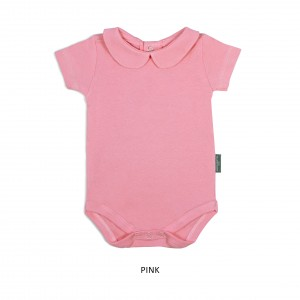 4b2b1ec16fba1 Personalize Available PINK Girl Collar Bodysuit Short Sleeve (Jumper)