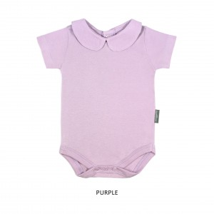 PURPLE Girl Collar Bodysuit Short Sleeve (Jumper)