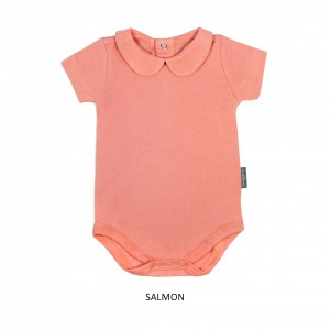 SALMON Girl Collar Bodysuit Short Sleeve (Jumper)