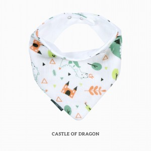 Castle Of Dragon Bandana Bib