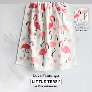 LOVE FLAMINGO LITTLE TERRY TOWEL
