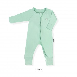 GREEN Baby Sleepsuit