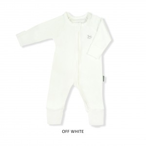 OFF WHITE Baby Sleepsuit