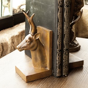 Deer Head Bookend