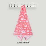 Elephant Tree PINK Hooded Towel