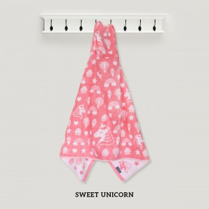 Sweet Unicorn PINK Hooded Towel
