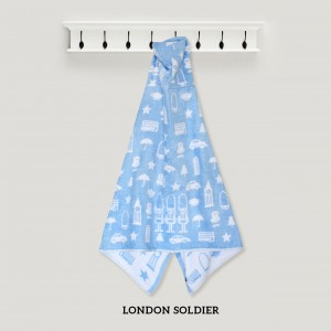 London Soldier BLUE Hooded Towel