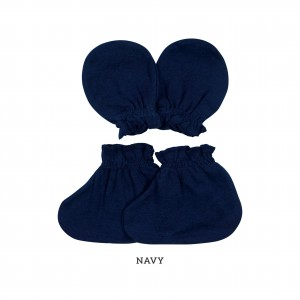NAVY Mittens & Booties