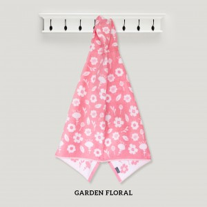 Garden Floral PINK Hooded Towel