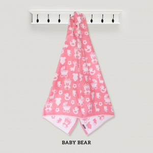 Baby Bear PINK Hooded Towel