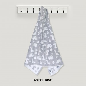 Age Of Dino GREY Hooded Towel