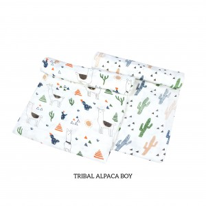 Tribal Alpaca Muslin Swaddle Set of 2 (BOY)