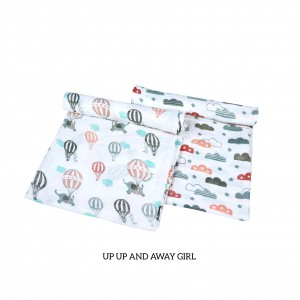 Up Up and Away Muslin Swaddle Set of 2 (GIRL)