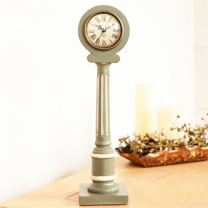 Green Pillar Clock