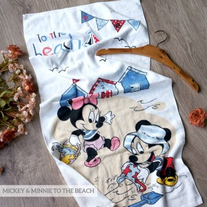 MICKEY & MINNIE TO THE BEACH LITTLE TERRY TOWEL