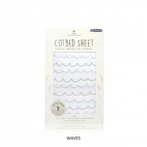 WAVES Cotbed Sheet