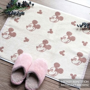 MICKEY REPETITION BROWN BATHMAT
