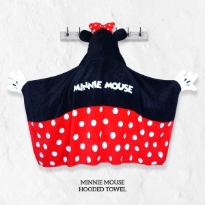 Minnie Mouse RED Hooded Towel