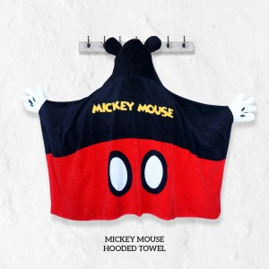 Mickey Mouse RED Hooded Towel