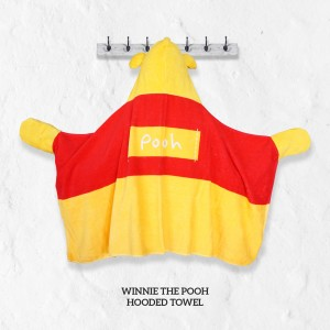Winnie The Pooh YELLOW Hooded Towel